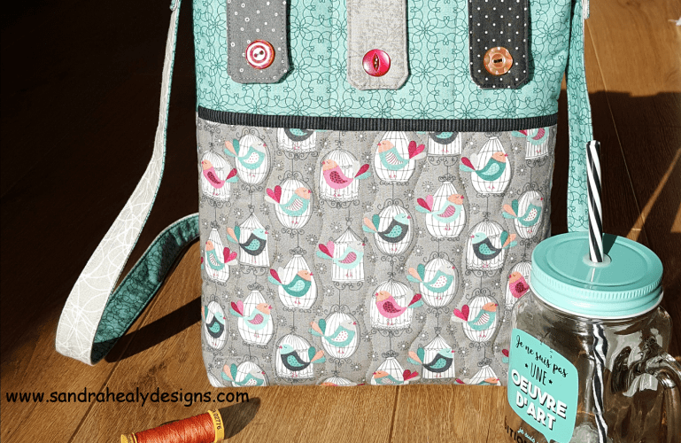 Sandra Healy Designs Button Tab Messenger Bag