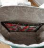 Sandra Healy Designs Button Tab Messenger Bag Inside bag