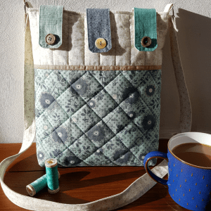 Sandra Healy Designs Button Tab Messenger Bag Digital Pattern