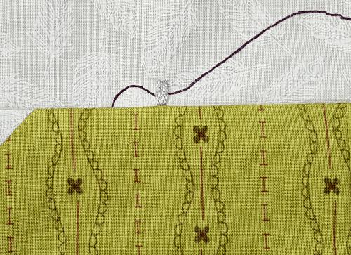 Sandra Healy Designs, Sew Lets QAL, Sewing Machine, Block 1, Thread Guide