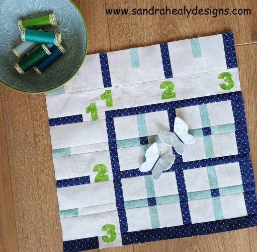 Sandra Healy Designs, Sew Let's QAL, block 3, ruler