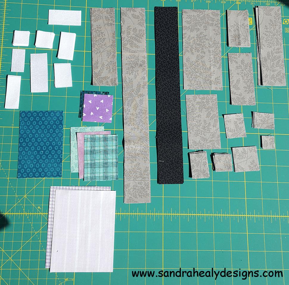 Sandra Healy Designs, Sew Let's QAL, Thread Cones Pieces, Block 4