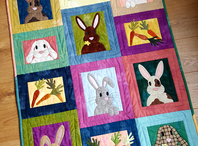 The Bunny Bunch quilt