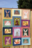 The Bunny Bunch quilt on fence