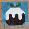 Sandra Healy Designs Christmas pudding quilt block