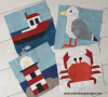Sandra Healy Designs four nautical blocks