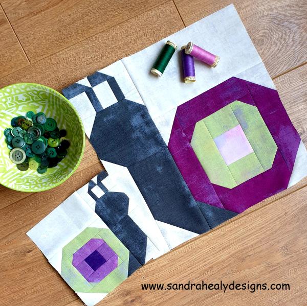 Snail Quilt Block Sandra Healy Designs