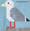Sandra Healy Designs plain seagull quilt block