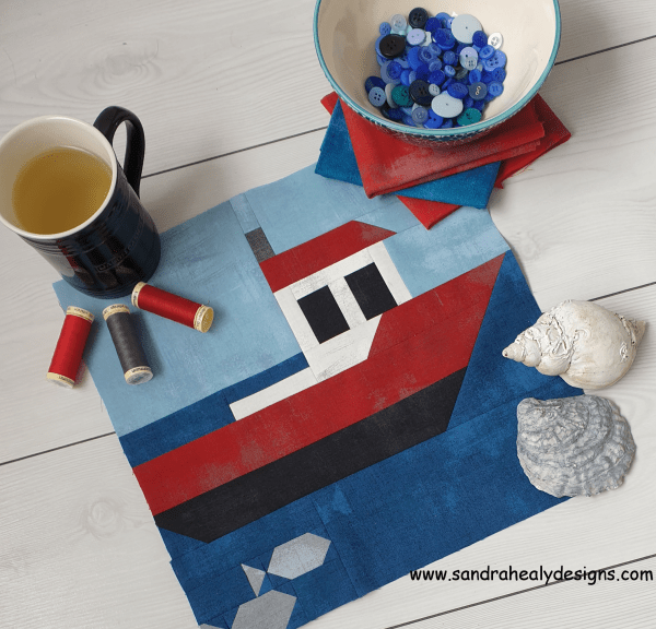 Sandra Healy Designs styled boat quilt block