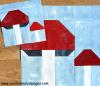 Sandra Healy Designs toadstool quilt block