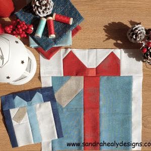 Sandra Healy Designs Christmas Gift Quilt Block