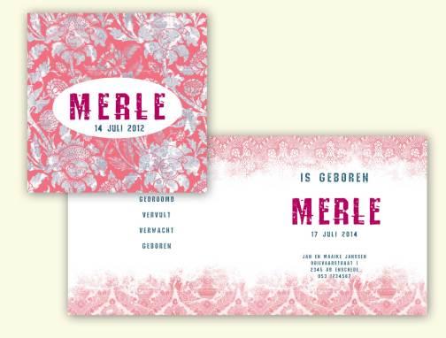 Geboortekaart Merle