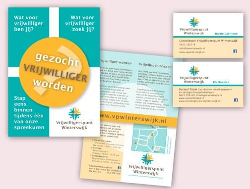 Vrijwilligerspunt Winterswijk flyer en visitekaarten
