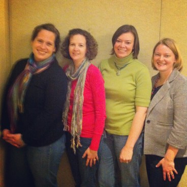 Nikki, Annette, Amanda, and myself at a ministers' wives event in April