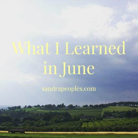 learned in june