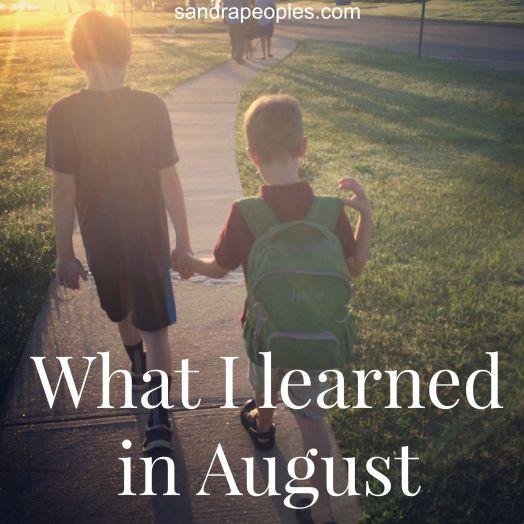 learned in august