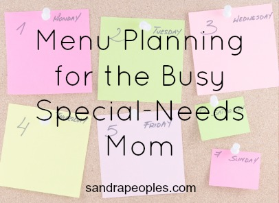 self care menu planning