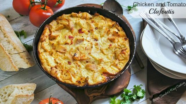 Chicken andSun-DriedTomatoesClafoutis