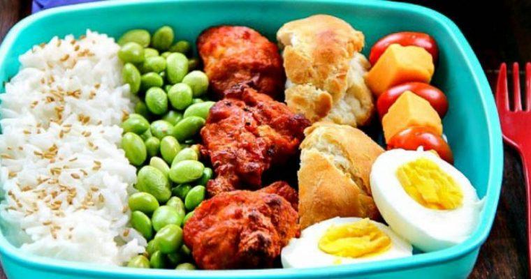 Lunch Box: Rice Mukimame Chicken Wings