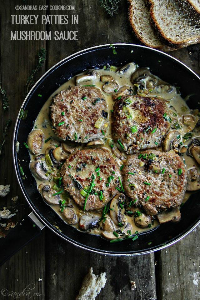 Turkey Patties in Mushroom Sauce Recipe