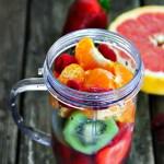 Strawberry, Raspberry, Kiwi, Clementine Smoothie