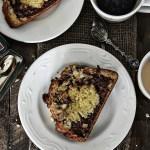 Nutella-Banana Marbled Bread