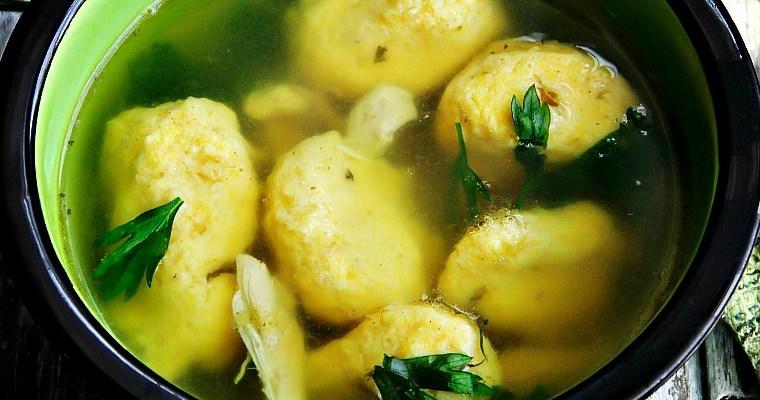 Homemade Drop Dumplings, Chicken Soup