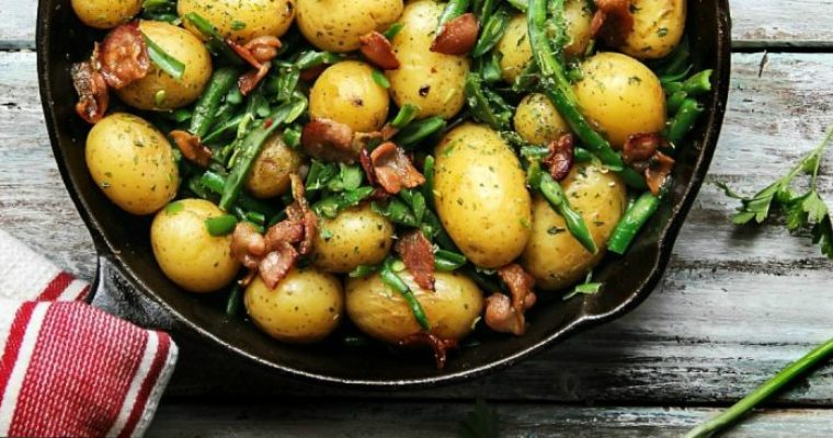 Southern Green beans and New Potatoes with Bacon
