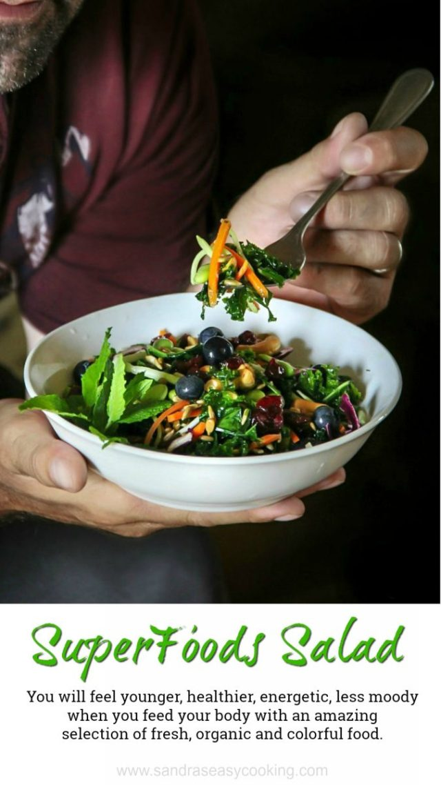 you will feel younger, brighter, energetic and with a more positive attitude when you feed your body with an amazing selection of fresh and colorful food.