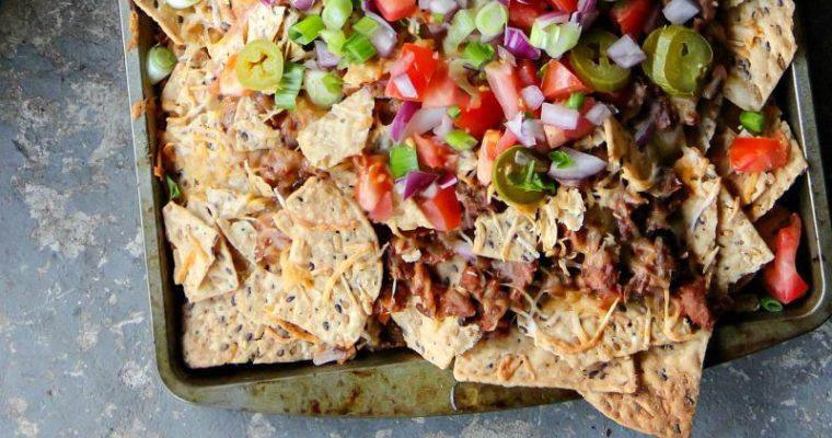 Meatless Chili Nachos
