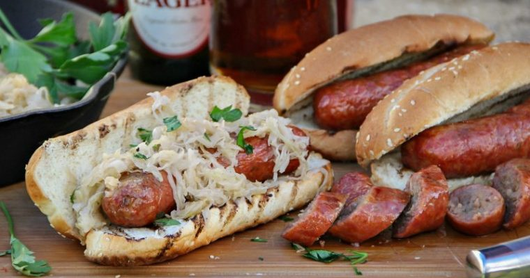 Smoked Smithfield Craft Collection Yuengling Traditional Bratwurst and Sauerkraut Hoagie