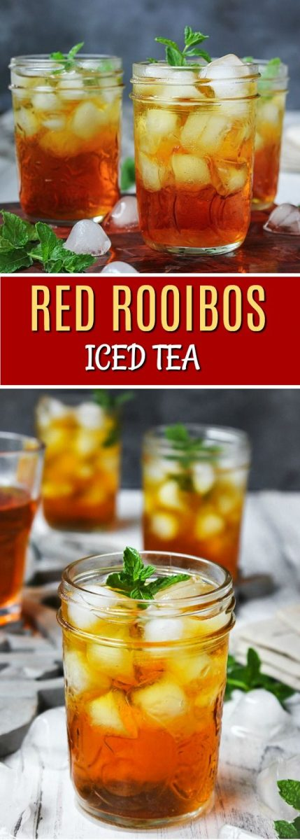 Summer is not over yet so I have decided to share one more amazingly delicious, nutritious and refreshing beverage — Red Rooibos Iced Tea.
