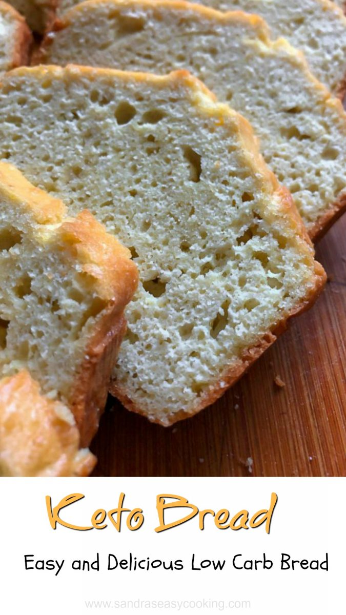 Keto Bread- Easy and Delicious Low Carb Bread. It is utterly scrumptious and so tasty! I know this bread is for sure going in the rotation as long as we are on Keto. I might do some updating like adding cheese or herbs. It tastes like cornbread meets savory pound cake, but way less eggy taste…Hey, it replaces reg bread beautifully, so you can eat it once a day or every other day.