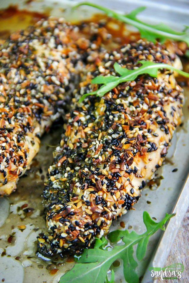 Everything Bagel Baked Chicken {recipe}