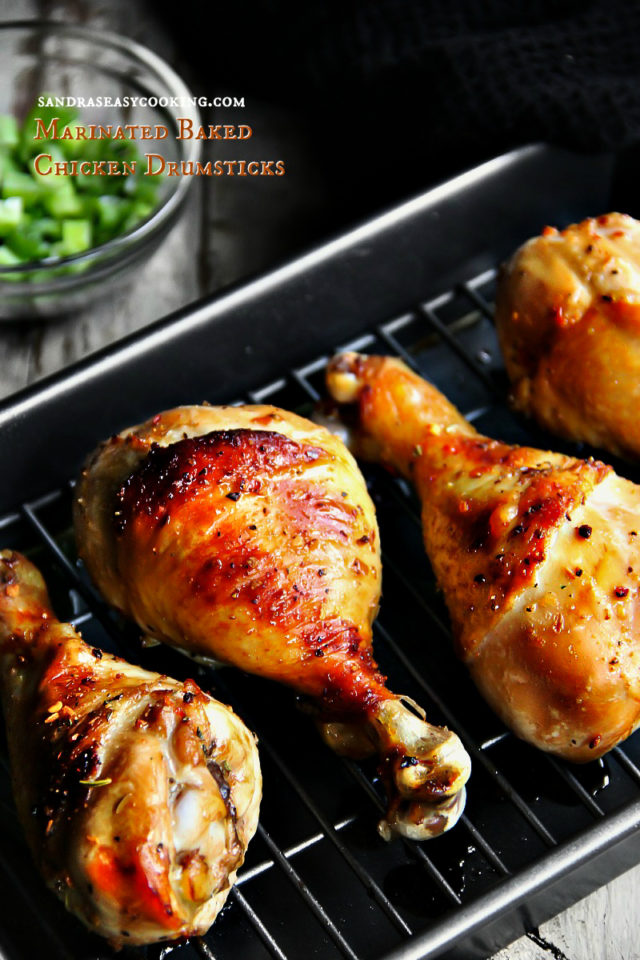 Marinated Baked Chicken Drumsticks