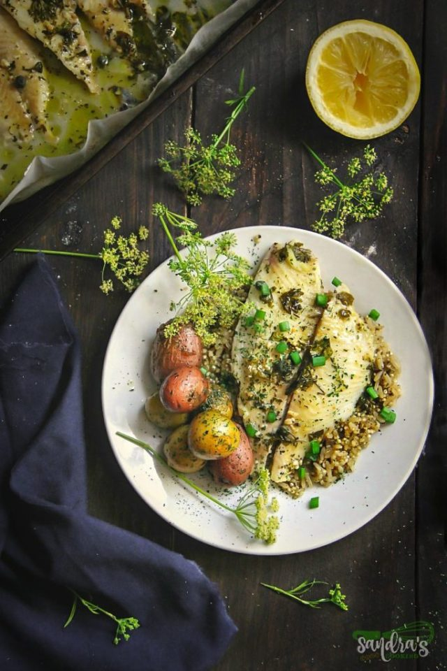 Parsley and Lemon Baked Fish Fillets