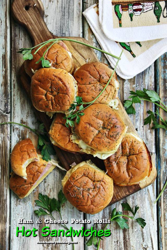 Ham and Cheese Potato Rolls, Hot Sandwiches Recipe
