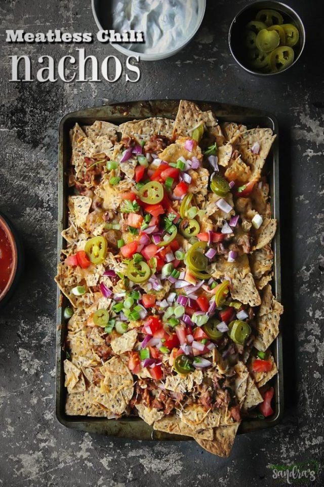 Meatless Chili Nachos Recipe