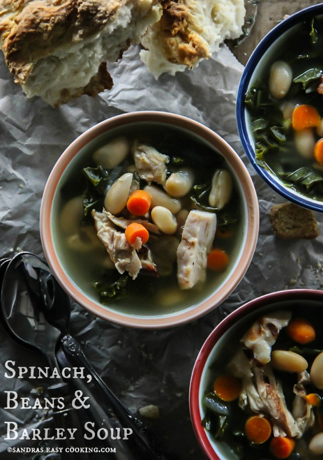 Spinach, Beans and Barley Soup Recipe