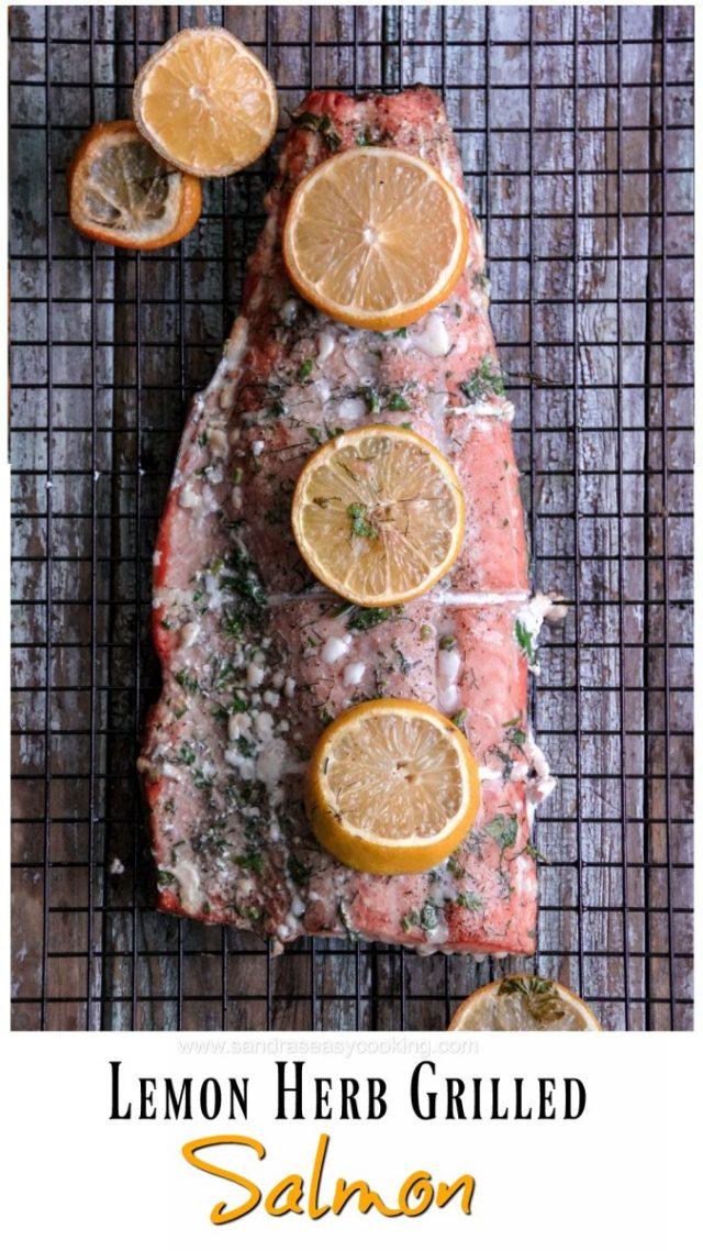 Lemon Herb Grilled Salmon Recipe