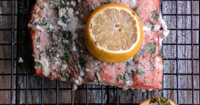 Lemon Herb Grilled Salmon