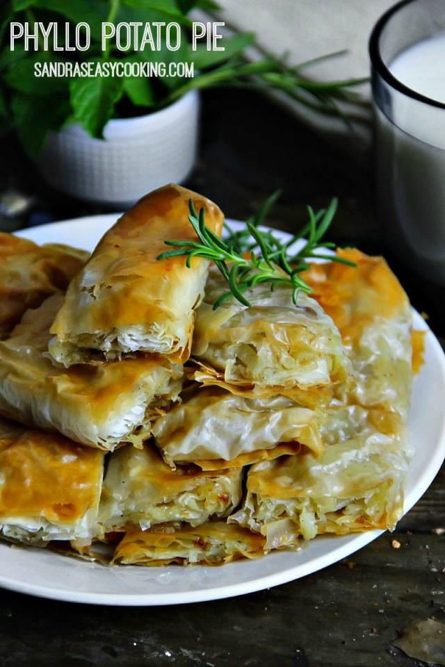 Phyllo Dough Potato Pie Pastry