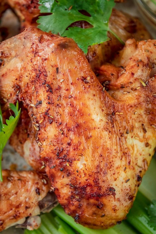 Air Fryer Zesty Rosemary Lime Chicken Wings
