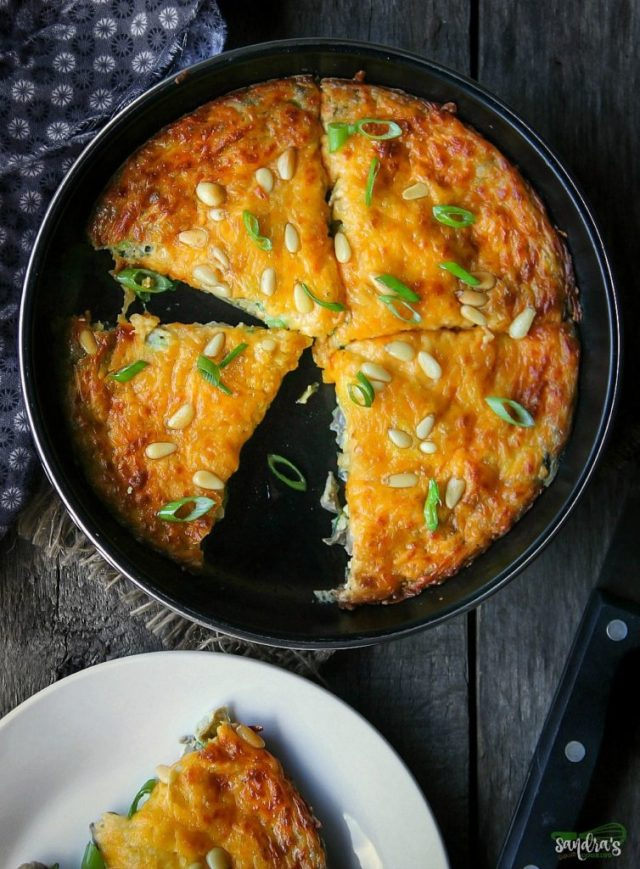 Scallion Mushroom Frittata Recipe