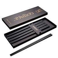 Goldage 5-Pairs Fiberglass Dishwasher-safe Chopsticks (Japanese Minimalism - Floating Flowers)