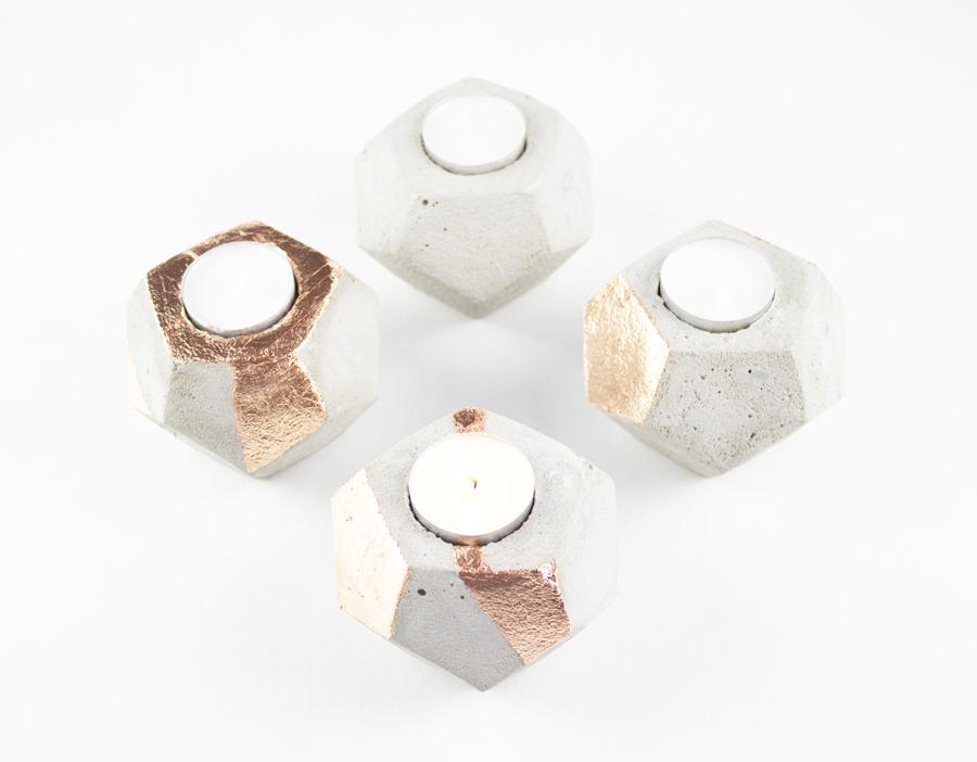 DIY-Beton Adventsktanz mit Kupferveredelung