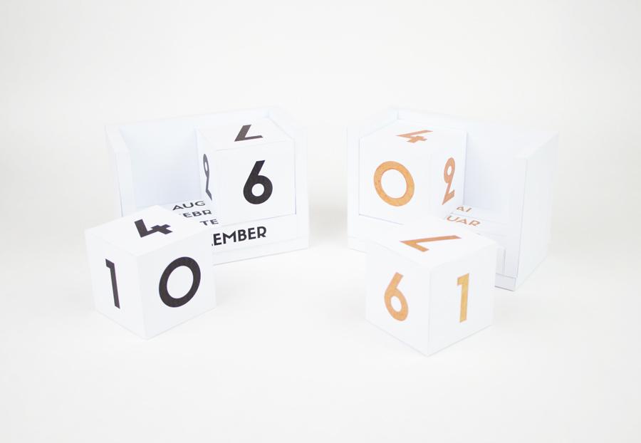 DIY Dauerkalender Würfelkalender Schwarz und Kupfer skaliert