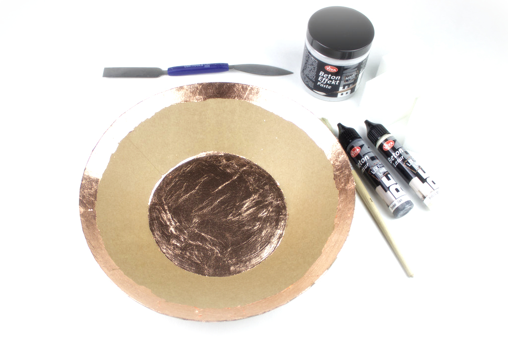 Pappmaché Materialien Blattkupfer Beton. Effekt Paste