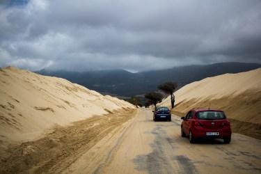 Die Sanddünen in der Nähe Tarifas