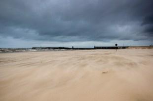 Am Strand von Ventspils